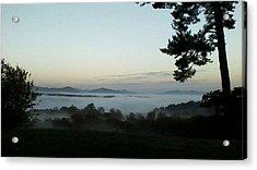 Fog Mountain Lake Acrylic Print