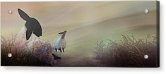 Fog On The Moor Acrylic Print by Jean Moore