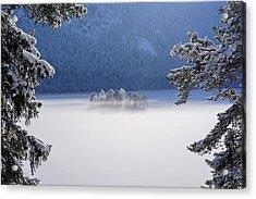 Fog Over Frozen Lake Acrylic Print