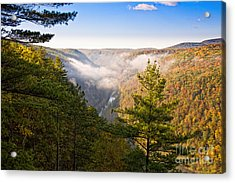 Fog Over The Canyon Acrylic Print