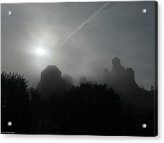 Fog Over The Old Roman Empire Castle Acrylic Print by Shan Peck