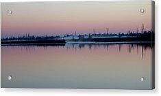 Fog Over The River Acrylic Print by Cynthia Guinn