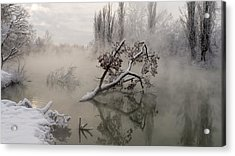 Fog Over The Water Acrylic Print