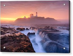 Fog Over Tide Acrylic Print by Michael Blanchette