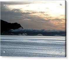 Acrylic Print featuring the photograph Fog Roll Sunset by Jennifer Wheatley Wolf