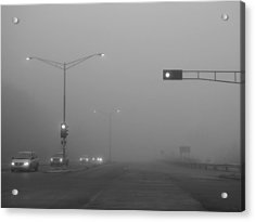Fogged Commute Acrylic Print by Wild Thing