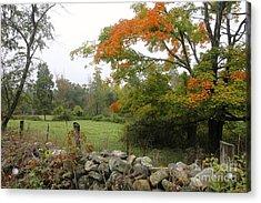 Foggy Autumn Acrylic Print by Jim Gillen