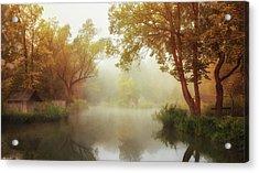 Foggy Autumn Acrylic Print