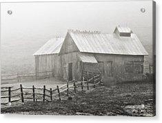 Foggy Barn Acrylic Print