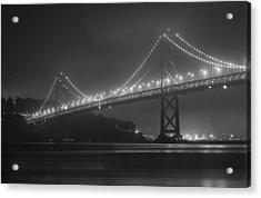Foggy Bay Bridge Acrylic Print