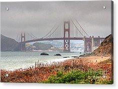 Foggy Bridge Acrylic Print by Kate Brown