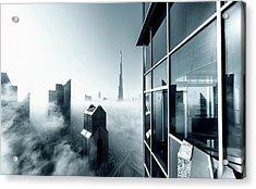 Foggy City Acrylic Print