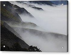 Foggy Coastal Hills Acrylic Print by Garry Gay