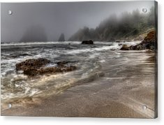 Foggy Day At Trinidad Acrylic Print by Mark Alder