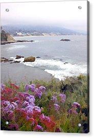 Foggy Day In Laguna Beach Acrylic Print by Elaine Plesser