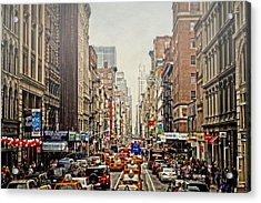 Foggy Day In The City Acrylic Print by Kathy Jennings