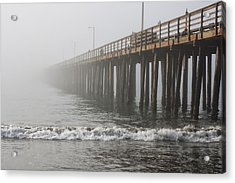 Foggy Dock Acrylic Print by Jim Young