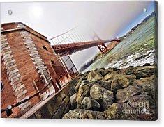 Foggy Gates Acrylic Print