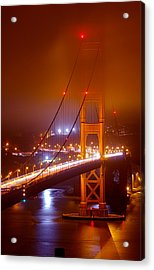 Foggy Golden Gate Acrylic Print
