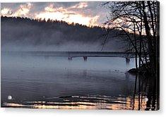 Foggy Highway 49 Bridge Acrylic Print