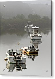 Foggy Moorings Acrylic Print by Carl Jacobs