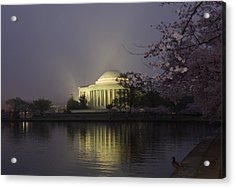 Foggy Morning At The Jefferson Memorial 1 Acrylic Print