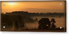 Foggy Morning At Valley Forge Acrylic Print