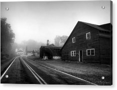 Foggy Morning In Brasstown Nc In Black And White Acrylic Print