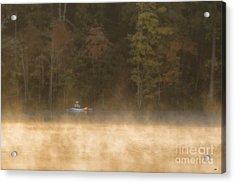 Foggy Morning Kayaking Acrylic Print