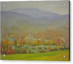 Acrylic Print featuring the painting Foggy Morning by Len Stomski