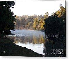 Foggy Morning On Lake Lanier Acrylic Print