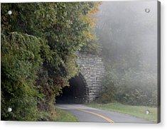 Foggy Morning On Parkway Acrylic Print by Melony McAuley