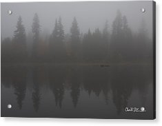 Foggy Morning On The Lake Acrylic Print by Charlie Duncan