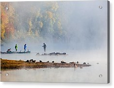 Foggy Morning St Croix River Stillwater Mn Acrylic Print