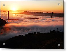 Acrylic Print featuring the photograph Foggy Morning San Francisco by James Kirkikis