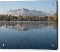 Foggy Morning - Scottsbluff Monument Acrylic Print