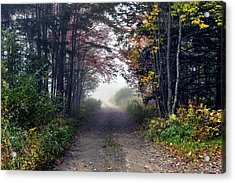 Foggy Morning - Stowe Vermont Acrylic Print