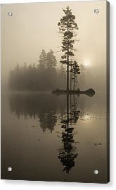 Foggy Morning Sunrise At The Lake Acrylic Print
