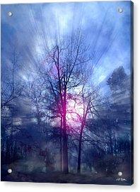 Foggy Morning Sunrise Acrylic Print by Bill Stephens