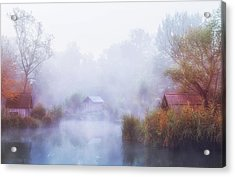 Foggy Mornings On The Lake Acrylic Print by Leicher Oliver
