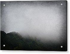 Foggy Mountain Acrylic Print by Amanda Eberly-Kudamik