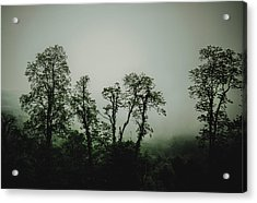 Foggy Mountain Morning At The Meadows Of Dan Acrylic Print by John Haldane