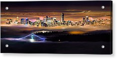 Foggy Night Acrylic Print by Alexis Birkill