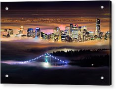 Foggy Night Crop Acrylic Print by Alexis Birkill