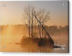 Foggy Ohio Morning Acrylic Print