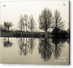 Foggy Reflections Acrylic Print