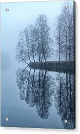 Foggy River Day Acrylic Print