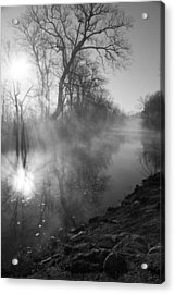 Foggy River Morning Sunrise Acrylic Print