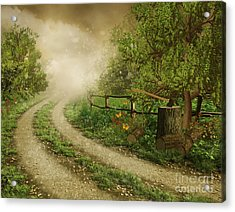 Foggy Road Acrylic Print by Boon Mee