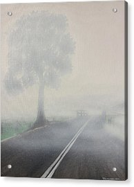 Acrylic Print featuring the painting Foggy Road by Tim Mullaney